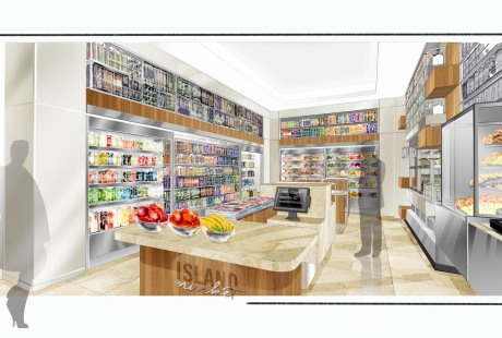 Island Hotel Market Place Rendering 2